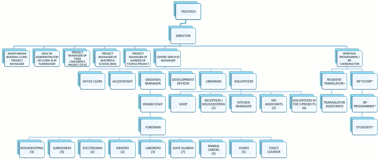 Our organisational chart