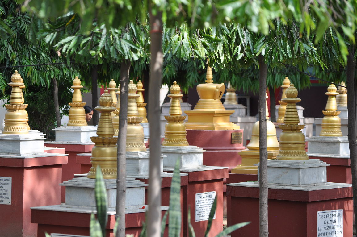 The stupas are dedicated with prayers for loved ones who have died