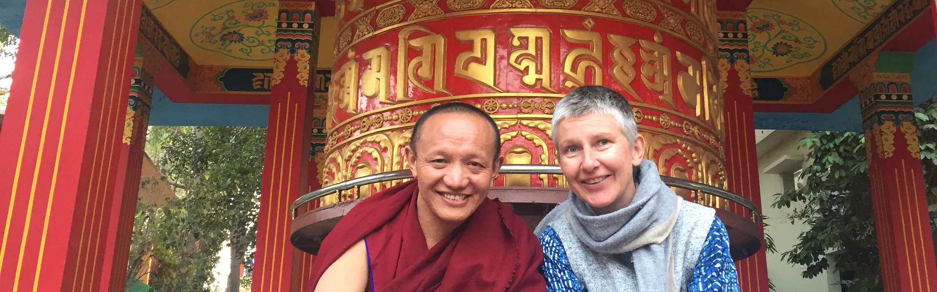 Our resident Geshe, Ngawang Rabga-la and our translator, Melanie Eikema