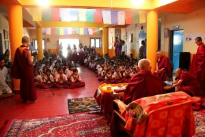 Rinpoche at assembly