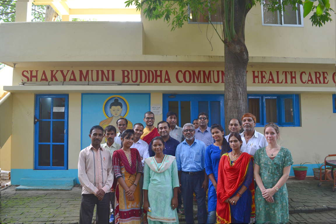 Group photo of clinic staff and volunteers