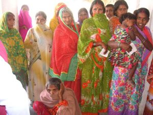 Patients waiting in line
