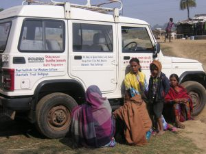 Our mobile clinic SUV on a village visit