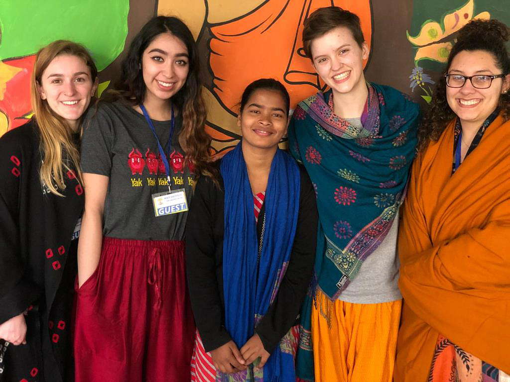 Jyoti with students of global young women's health from Smith College