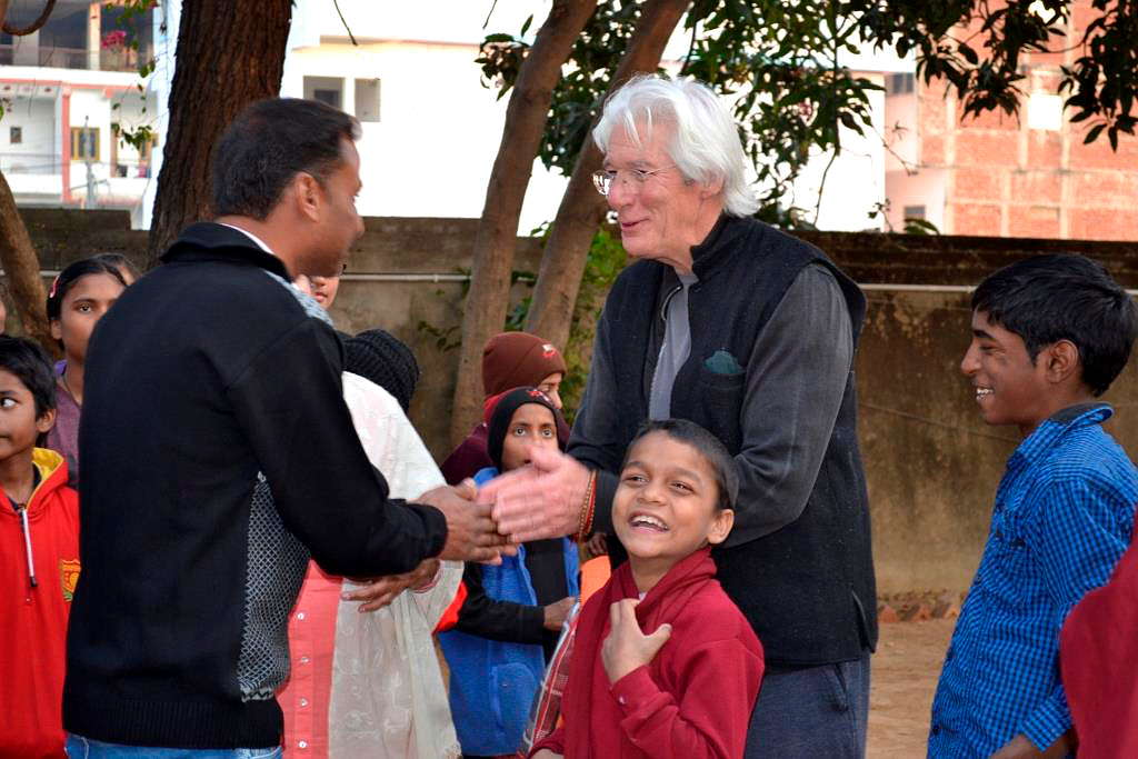 Happiness when greeting Richard Gere