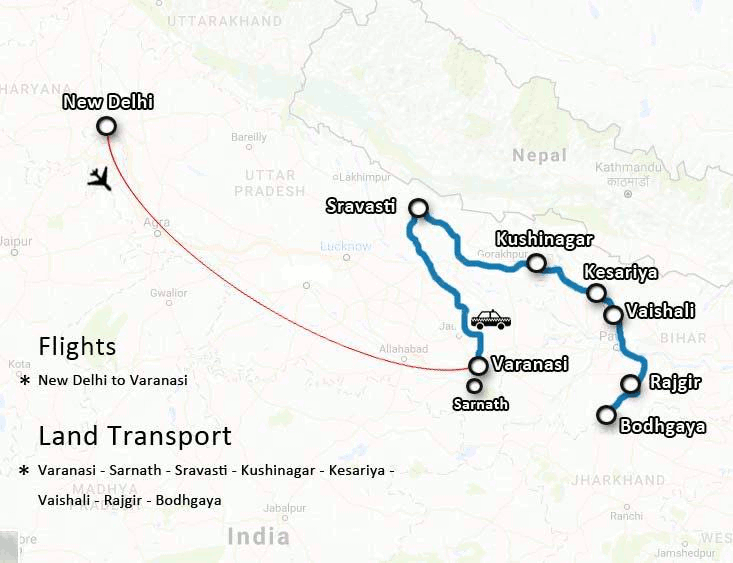 2020 fundraising pilgrimage route map