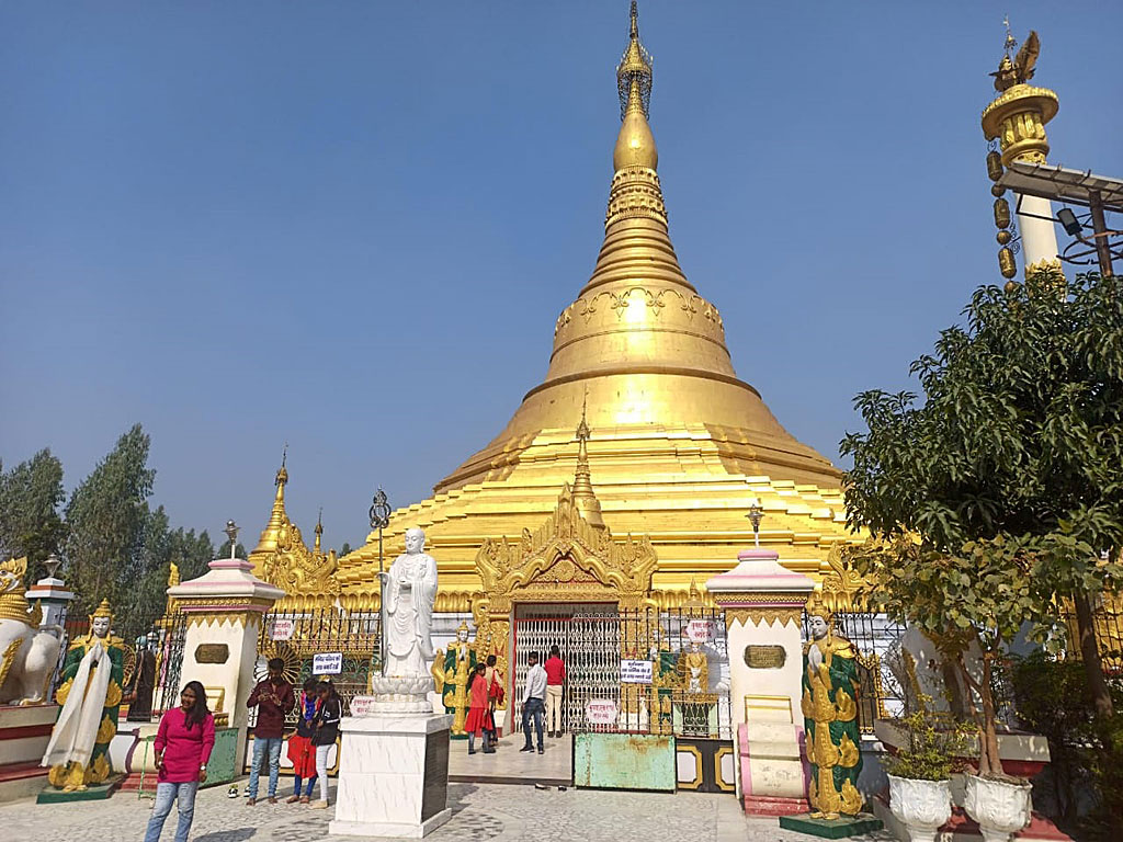 Kushinagar – The beautiful Burmese Temple, Mahasukhamdada Chin Thargyi Pagoda