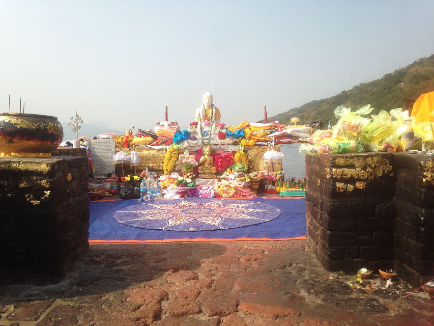 Rajgir – Vulture's Peak, site of many glorious occasions in Lord Buddha's life, such as the Heart Sutra