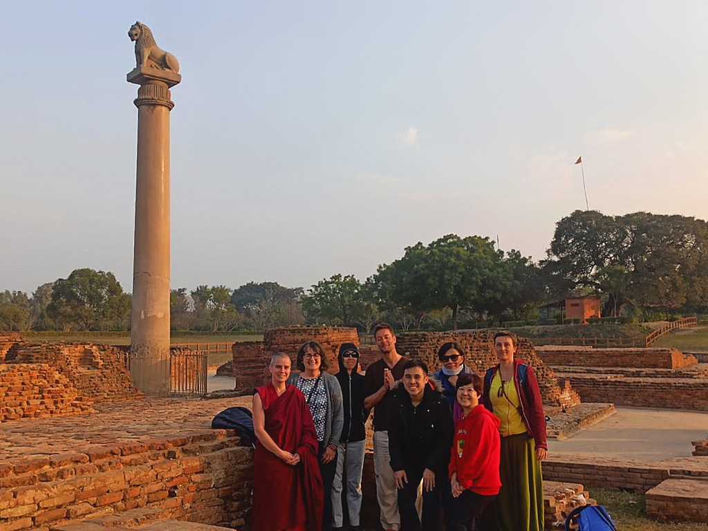Vaishali – Ashokan pillar near the stupa of Lord Buddha's disciple, Ananda