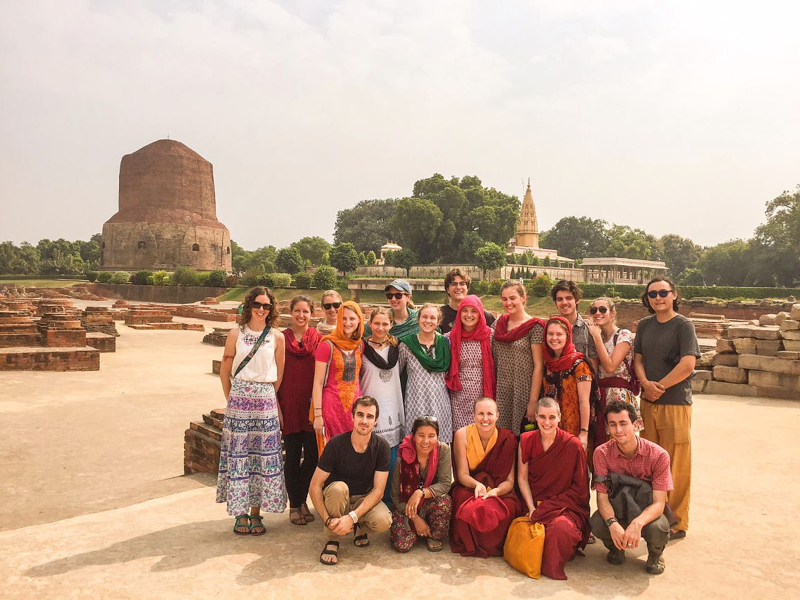 Sarnath Stupa commemorating Lord Buddha's First Turning of the Wheel of Dharma